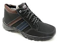 Ботинки мужские зимние на меху Б-3,шнурок,молния