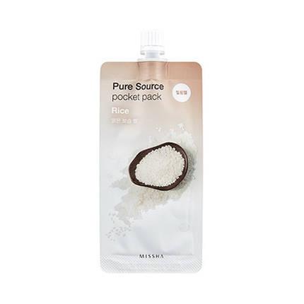 Пилинг-скатка с экстрактом риса Missha Pure Source Pocket Pack - Rice, 10 мл, фото 2