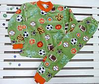 Теплая махровая пижама для мальчика на рост 110-116, фото 1
