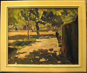 Картина Тенистая улица  Ткаченко Е.Н.  1960 год