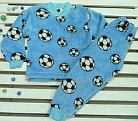 Теплая махровая пижама для мальчика на рост 86-98, фото 1