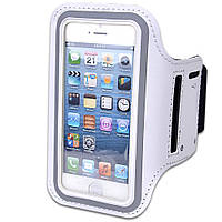 Армбенд, спортивный чехол Iphone 5 5C 5S, белый
