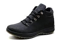 Ботинки мужские Timberland, зимние, на меху, натуральная кожа, черные, фото 1