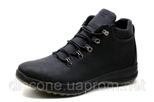 Ботинки мужские Timberland, зимние, на меху, натуральная кожа, черные