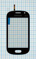 Тачскрин сенсорное стекло для Samsung S6810 Galaxy Fame Original dark blue, фото 1