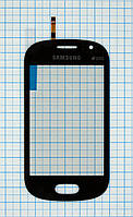 Тачскрин сенсорное стекло для Samsung S6810 Galaxy Fame High Copy dark blue