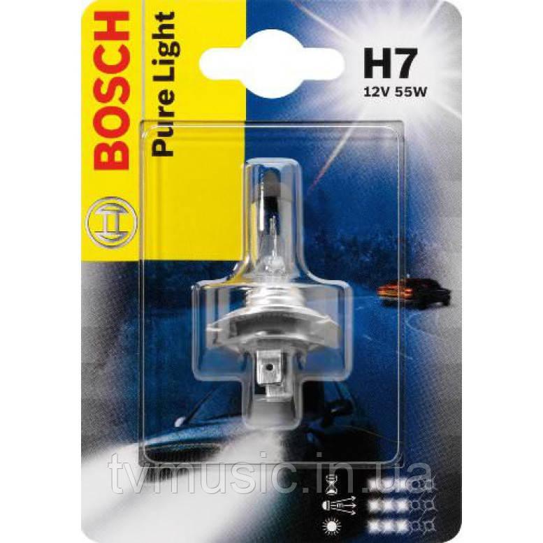Автомобильная лампа Bosch Pure Light H7 12V 55W (1987301012)