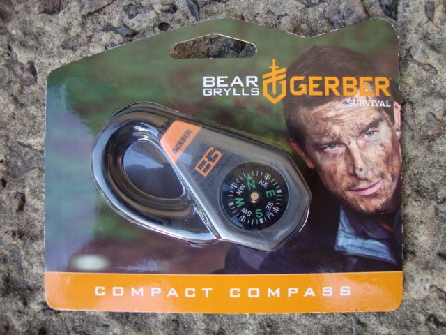Компас Gerber (гербер) Bear Grylls Compact compass - в блистере (31-001777)