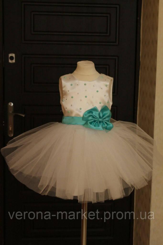 cbdb4a8c2928d60 Великолепное праздничное платье на девочку с пышной юбкой из фатина и  бусинами , цена 677 грн., купить в Одессе — Prom.ua (ID#389884553)