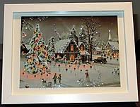Новогодняя картина сувенир со стразами Зимние забавы