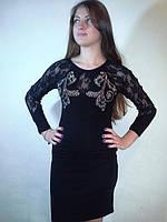 Вечернее платье с гипюром