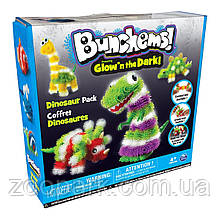 Оригинал! Конструктор Bunchems (Банчемс) Glow Dino Pack 200+