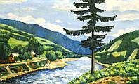 """Картина """"У горной реки"""" Лобода И.И. 1980-е годы"""