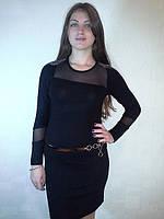 Классическое платье с пояском