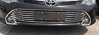 Toyota Сamry V55 хром накладка решетки радиатора нижняя