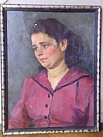 """Картина """"Портрет женщины"""" Лобода И.И.  1979 год"""