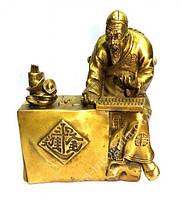 Чэнь Лопань - бог, считающий деньги бронза
