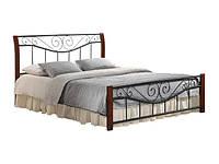 """Кровать """"Ленора"""" двухспальная из натурального дерева и металла"""