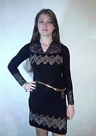 Нарядное платье в камнях с гипюром