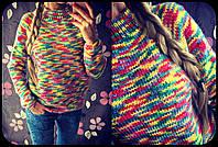 Женский модный цветной меланжевый свитер