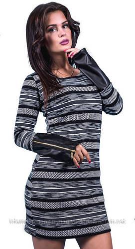 Платье женское змейки на рукавах