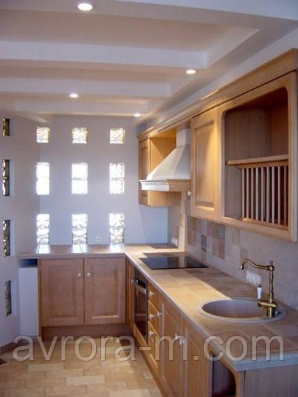 Кухня со столешницей из керамич. плитки