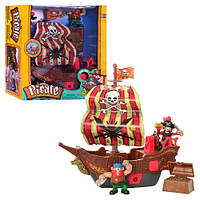 Игровой набор Keenway 10754 Пиратский корабль ,интерактивный
