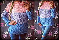 """Женский стильный вязанный свитер """"Омбре"""" (6 цветов), фото 1"""