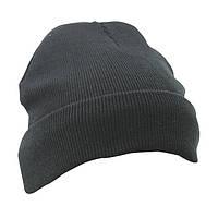 Вязаная шапка с отворотом 7551-1