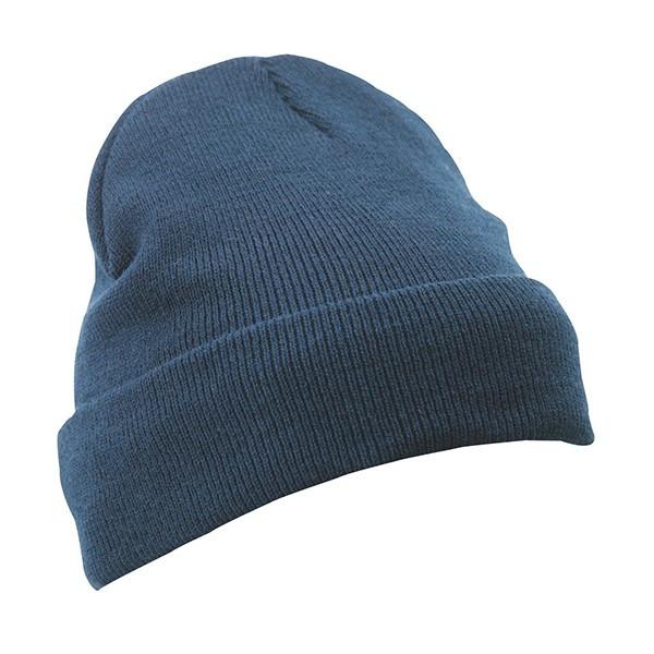 Вязаная шапка с отворотом 7551-4