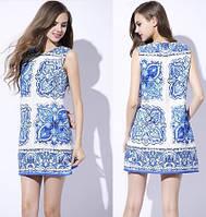 Женское платье в стиле Dolce&Gabbana  Майоликовая роспись