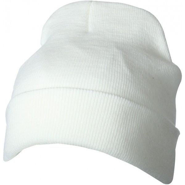 Вязаная шапка с отворотом 7551-6