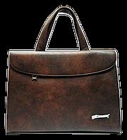 Сумка-портфель женская из искусственной кожи коричневая DOP-886530