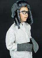 """Набор шапка-ушанка и варежки для мальчиков """"Эштон"""""""