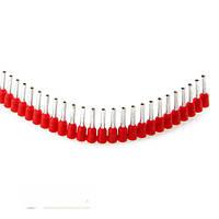 Лента с обжимными гильзами, 1,00мм.кв., 1000шт (красный) JOKARI