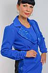 Болеро синее нарядное  длинным рукавм ( ЖК 021), фото 3