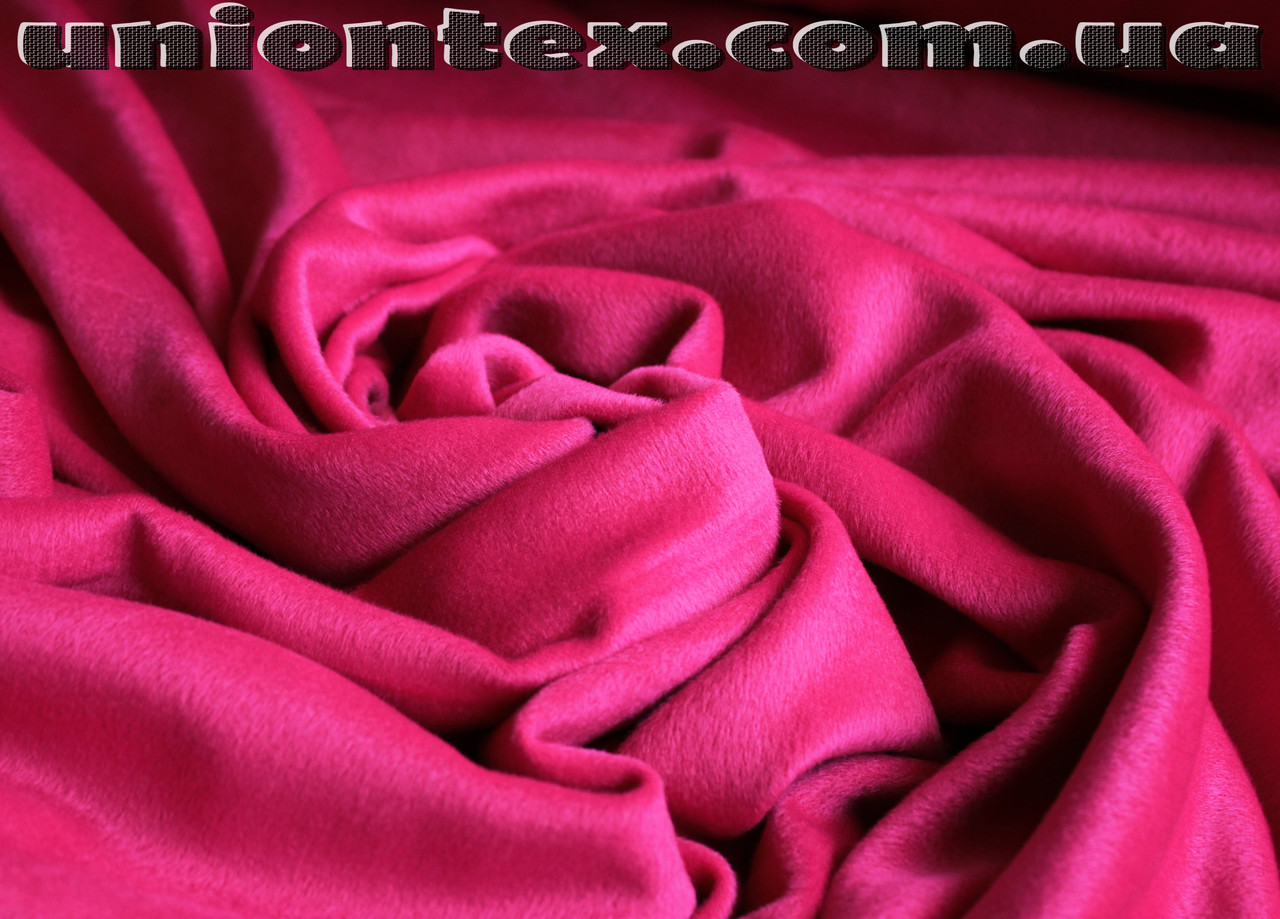 Пальтовая ткань ворсовая малиновая