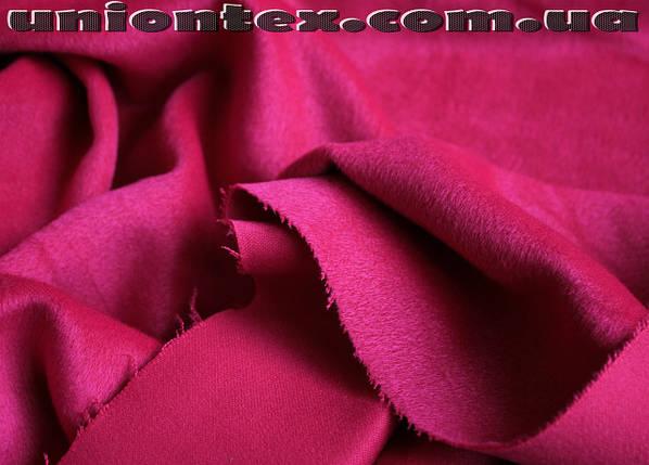 Пальтовая ткань ворсовая малиновая, фото 2