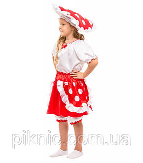 Детский костюм гриб Мухомор на праздник Осени. Карнавальный маскарадный костюм для девочки. Новый!, фото 2