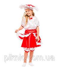 Детский костюм гриб Мухомор на праздник Осени. Карнавальный маскарадный костюм для девочки 340, фото 2