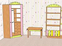 Шкаф детский угловой с декором!