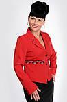 Жакет женский  красный со стразами праздничный ( ЖК 026), фото 2