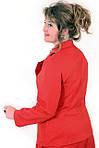 Жакет в классическом стиле ,( ЖК 027) , жакет из джинса, терракот,ботал , класический крой., фото 3