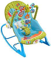 Fisher-Price Кресло - качалка Слоненок Infant Toddler Rocker Elephant Friends