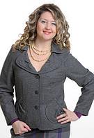 Жакет кашемировый шерстяной серый женский ( ЖК 029)
