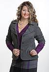 Жакет кашемировый шерстяной серый женский ( ЖК 029), фото 2