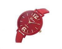 Женские часы красного цвета Geneva (182)