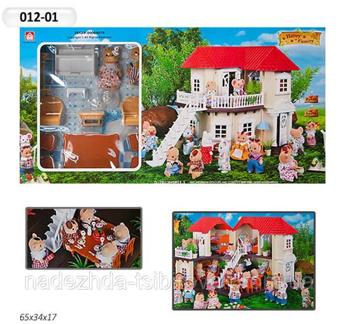 "Домик для кукла LOL Игровой набор ""Happy Family"" - домик с аксессуарами, подсветка, 2 фигурки."
