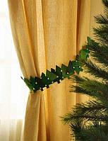 Готовимся к новогодним праздникам, украшаем шторы.