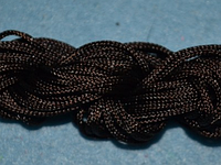 Капроновый шнур 2 мм  чёрный  20216